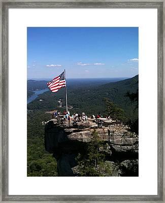 Chimney Rock 3 Framed Print