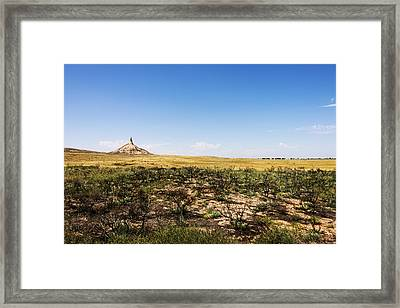 Chimney Rock - Bayard Nebraska Framed Print by Brian Harig
