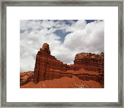 Chimney Rock In Capitol Reef National Park In Utah Framed Print