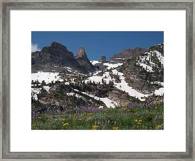 Chimney Rock Framed Print by Jenessa Rahn