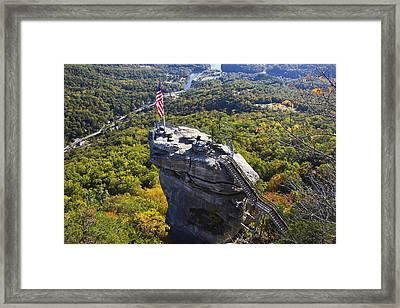 Chimney Rock North Carolina Framed Print by Pierre Leclerc Photography