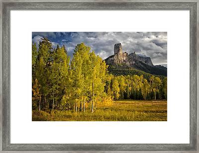 Chimney Rock San Juan Nf Colorado Img 9722 Framed Print by Greg Kluempers