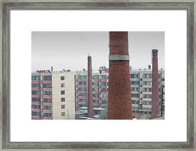 Chimneys And Apartment Blocks Framed Print