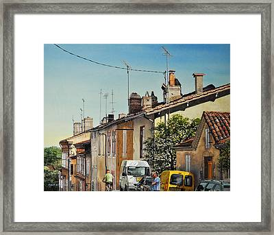 Chimneys Of Auch Framed Print by Robert W Cook