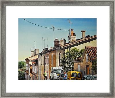 Chimneys Of Auch Framed Print