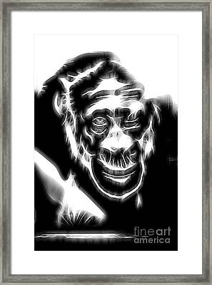 Chimpanzee Abstract Framed Print