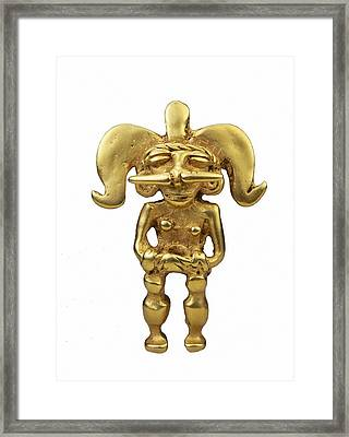 Chimu Pendant. Chimu Art. Jewelry Framed Print by Everett