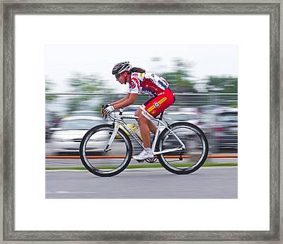 Chin Picnic Bike Race Canada Day 2013 2 Framed Print by Brian Carson