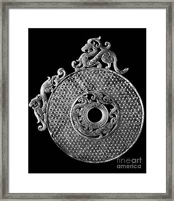 China - Jade Disk Framed Print by Granger