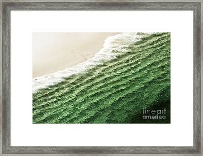 China Beach Wave Ocean Theme Pillow Print Tote Framed Print by Artist and Photographer Laura Wrede