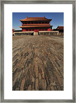 China, Beijing, Forbidden City Framed Print by Anthony Asael