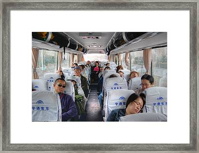 China Bus Ride  Framed Print