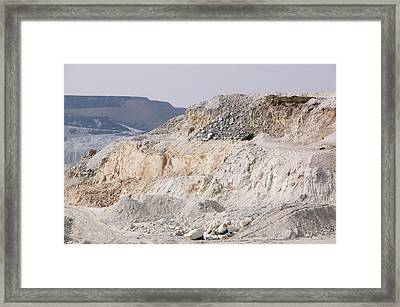 China Clay Workings Near St Austell Framed Print by Ashley Cooper