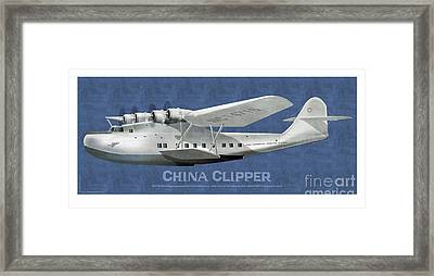 China Clipper Nc 14716 Framed Print by Kenneth De Tore