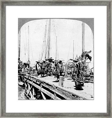 China Coal Barges, C1902 Framed Print by Granger