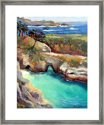China Cove Point Lobos Framed Print by Karin  Leonard