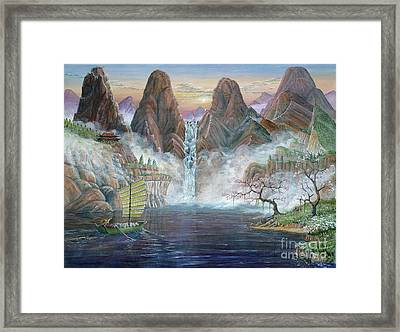 China Dawn Framed Print