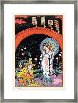 China Framed Print by Georges Barbier