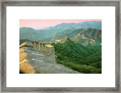 China, Huairou County, Sunrise Framed Print