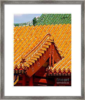 China Pavilion Framed Print by Joy Hardee