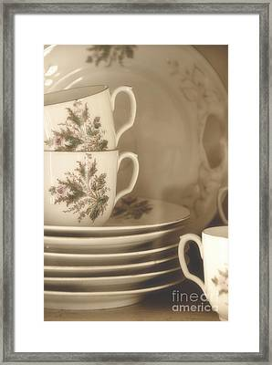 China Place Settings Framed Print by Birgit Tyrrell