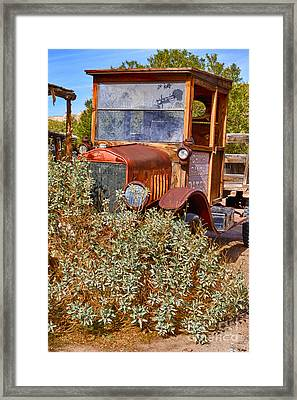 China Ranch Truck Framed Print by Jerry Fornarotto