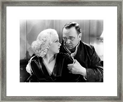 China Seas, From Left, Jean Harlow Framed Print by Everett