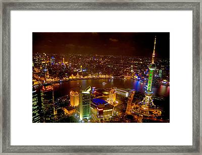 China Shanghai At Night  Framed Print