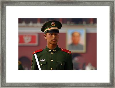 Framed Print featuring the photograph China Soldier by Henry Kowalski