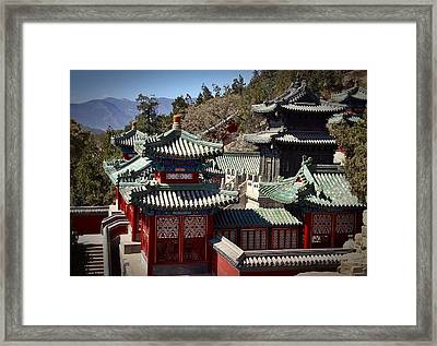 Framed Print featuring the photograph China Summer Palace by Henry Kowalski