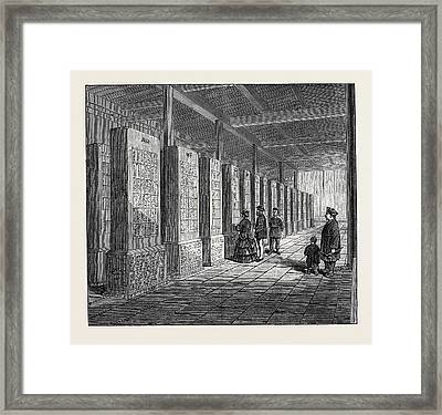 China Tablets Engraved With The Classics 1873 Framed Print
