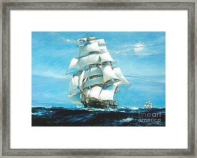 China Tea Clippers Framed Print by Pg Reproductions