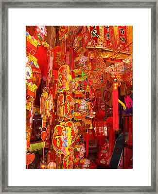 China Town Lanterns Framed Print by Jack Edson Adams