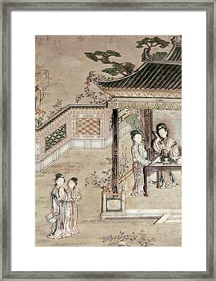 China Virtuous Ladies Framed Print by Granger