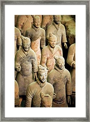China, Xi'an, Qin Shi Huang Di Framed Print