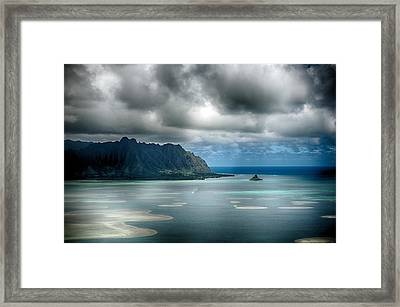 Chinaman's Hat From Puu Maelieli Framed Print