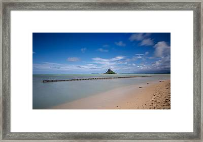 Chinaman's Hat Mokolii In Hawaii Framed Print