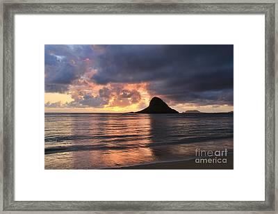 Chinaman's Hat Mokolii Island Oahu Hawaii Framed Print by Leslie Kirk