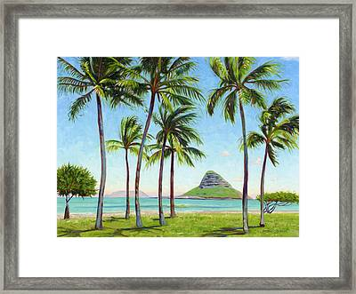 Chinamans Hat - Oahu Framed Print by Steve Simon
