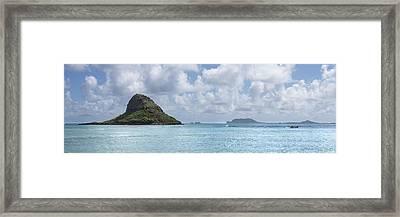 Chinamans Hat Panorama - Oahu Hawaii Framed Print by Brian Harig