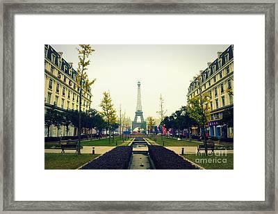 China's Paris Framed Print