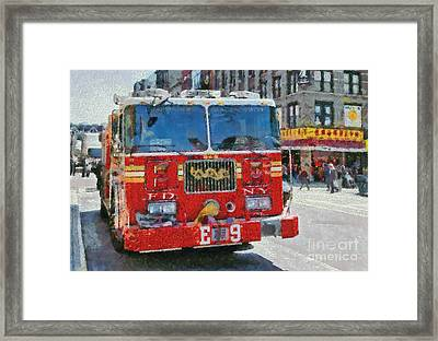 Chinatown Dragonfighters Framed Print