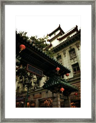 Chinatown Entrance Framed Print