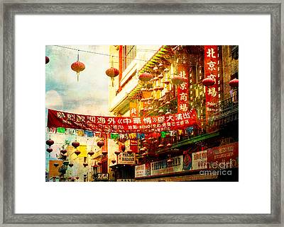 Chinatown In The Sun Framed Print