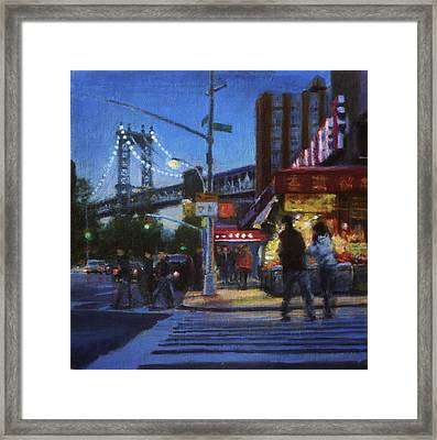 Chinatown Nocturne Framed Print