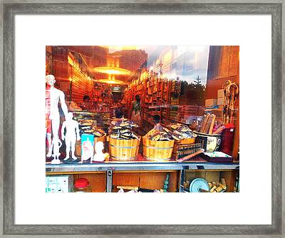 Chinatown Nyc Herb Shop Framed Print by Joan Reese