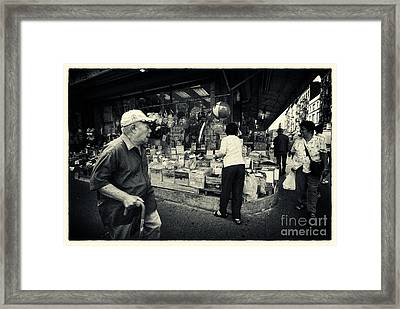Chinatown Streetlife New York City Framed Print by Sabine Jacobs