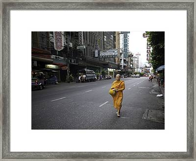 Chinatown Walk Framed Print by David Longstreath