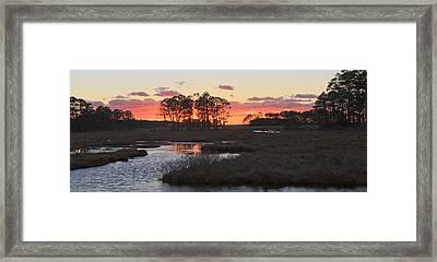 Chincoteague Island Sunset Framed Print by Jack Nevitt