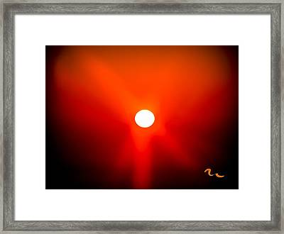 Chincoteague Sunset Framed Print by Mary Martin